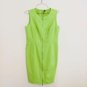 Neon green zipper dress